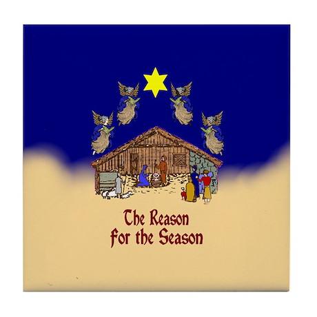 Nativity Scene Tile Coaster