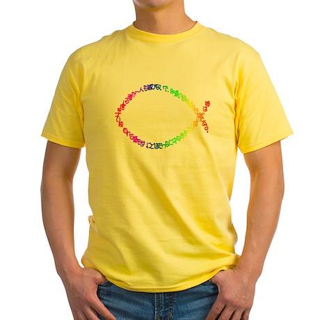 Jesus fish Yellow T-Shirt