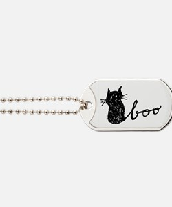 Boo Cat for Halloween Dog Tags