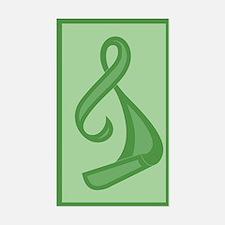 """Green Ribbon Twist"" Rectangle Decal"