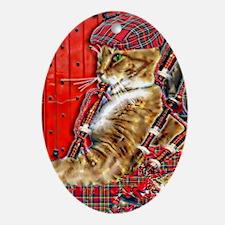 Cute Celtic music Oval Ornament