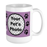 Cat personalized with name cat photo Large Mugs (15 oz)