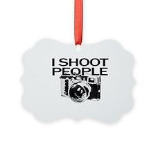 I shoot people Ornament