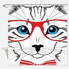 Stylish Cat Shower Curtain
