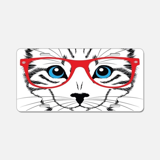 Stylish Cat Aluminum License Plate