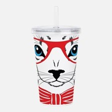 Stylish Cat Acrylic Double-wall Tumbler