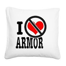 Antilove Square Canvas Pillow