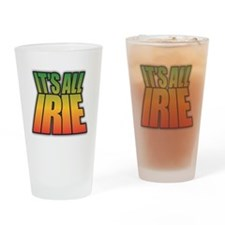 Cute Rasta colors Drinking Glass