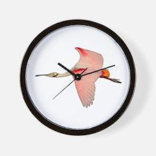 Unique Spoonbill Wall Clock