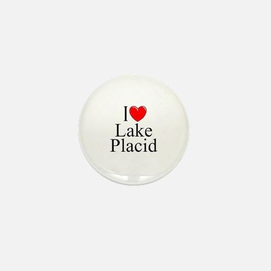 """""""I Love Lake Placid"""" Mini Button"""