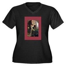 Unique Victorian valentine Women's Plus Size V-Neck Dark T-Shirt