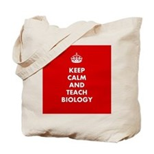 Keep Calm and Teach Biology Tote Bag