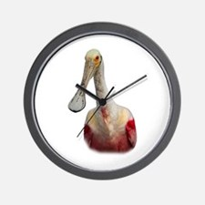 Funny Spoonbill Wall Clock