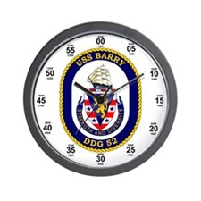 USS Barry DDG-52 Wall Clock
