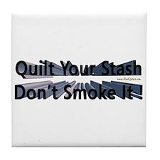 Quilt your stash Tile Coaster