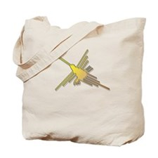 Golden Nazca Lines Hummingbird Tote Bag
