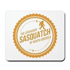 Orange Sasquatch Of North America Mousepad