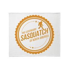 Orange Sasquatch Of North America Throw Blanket