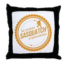 Orange Sasquatch Of North America Throw Pillow