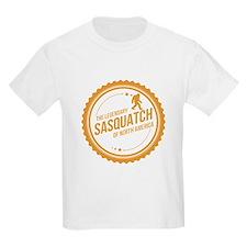 Orange Sasquatch Of North America T-Shirt