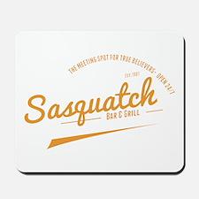 Orange Sasquatch Bar And Grill Mousepad