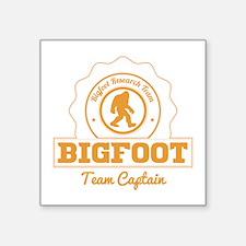 Orange Bigfoot Research Team Captain Sticker