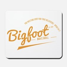 Orange Bigfoot Bar And Grill Mousepad