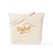 Orange Bigfoot Bar And Grill Tote Bag