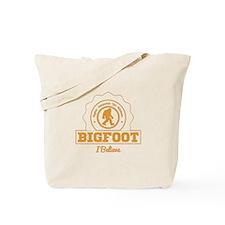 Orange Bigfoot I Believe Tote Bag