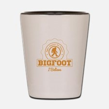 Orange Bigfoot I Believe Shot Glass