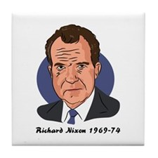 Richard Nixon Tile Coaster