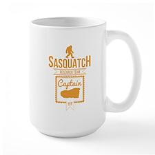 Orange Sasquatch Research Team Captain Mugs