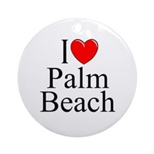 """I Love Palm Beach"" Ornament (Round)"