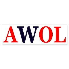 AWOL W (Bumper Sticker)