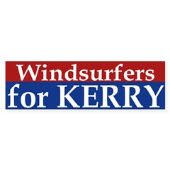 Windsurfers for Kerry (bumper sticker)