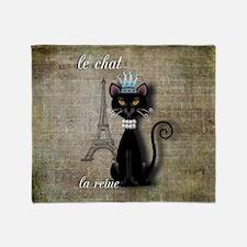 The Cat, The Queen Throw Blanket