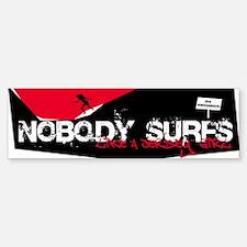 Nobody Surfs Like a Jersey Girl Bumper Bumper Bumper Sticker