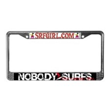 Nobody Surfs Like a Jersey Girl License Plate