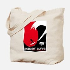 Nobody Surfs Like a Jersey Girl Tote Bag
