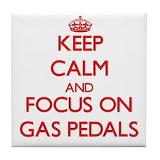 Unique Keep calm and pedal Tile Coaster