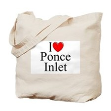 """I Love Ponce Inlet"" Tote Bag"