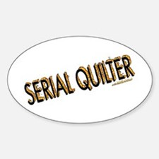 SERIAL QUILTER Oval Stickers