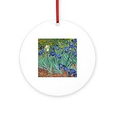 Irises by Vincent Van Gogh Ornament (Round)