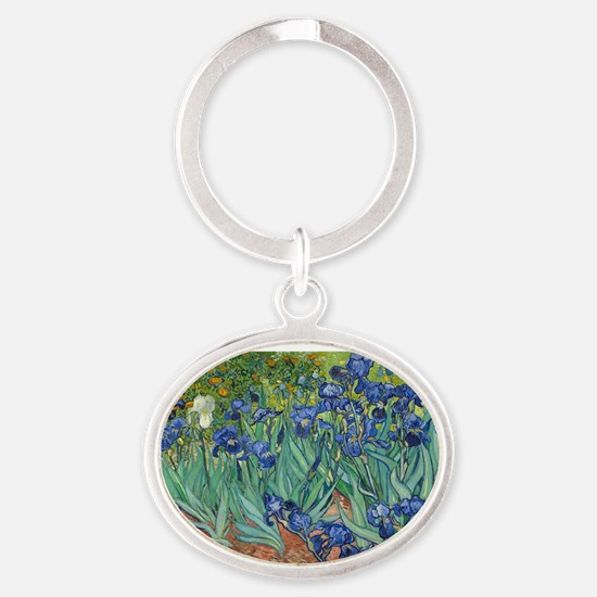 Irises by Vincent Van Gogh Keychains