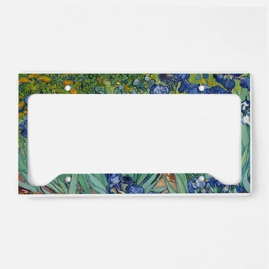 Irises by Vincent Van Gogh License Plate Holder