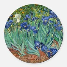 Irises by Vincent Van Gogh Round Car Magnet