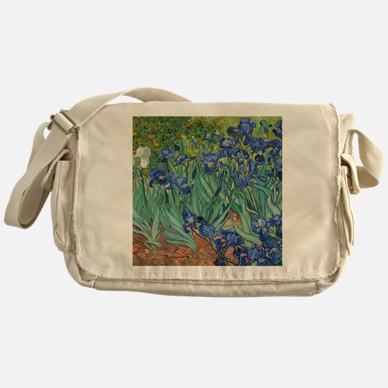 Irises by Vincent Van Gogh Messenger Bag