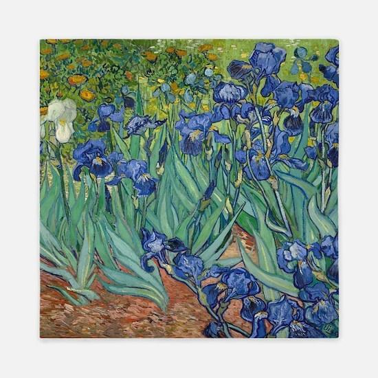 Irises by Vincent Van Gogh Queen Duvet