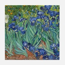 Irises by Vincent Van Gogh Tile Coaster