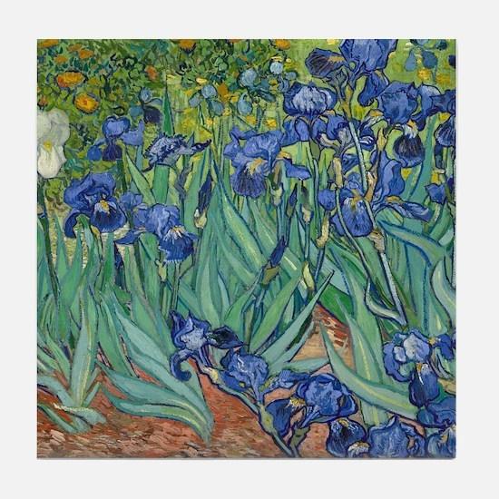 Irises by Vincent Van Gogh Tile Coaster